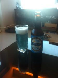 オホーツック海の青色をイメージした、網走のビール。