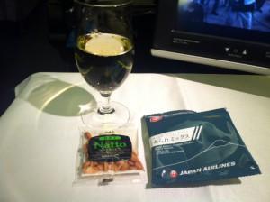 機内シャンパン