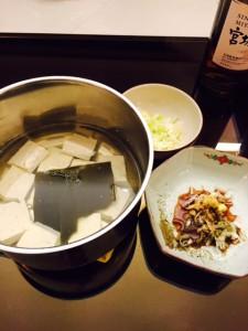 自宅湯豆腐