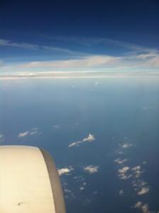 福岡行きの飛行機の窓から。
