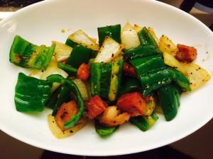 自宅野菜炒め