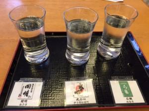 地酒のアンテナショップでまずは三種