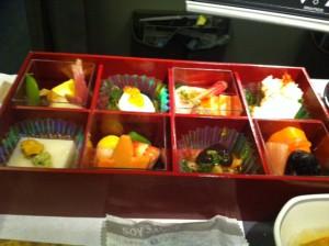 JALの機内食。先月くらいから、日本発便の機内食がおいしい。