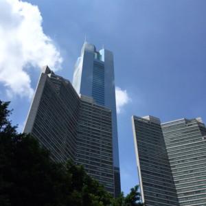 オフィスが入っている広州中信広場。