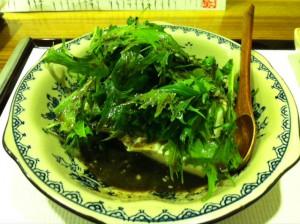 水菜と豆腐のサラダ。