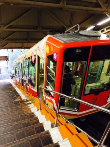 立山駅からのケーブルカー