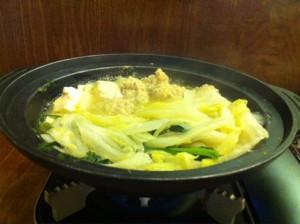 つくね鍋。これは美味しかった。
