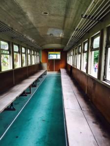 林田山電車の中