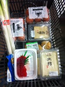 何時もながら豆腐を買い出し。