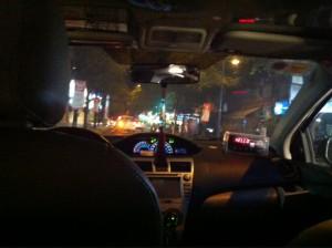 運転手がいなくなったタクシー